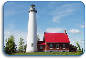 Tawas Point State Park is home to Tawas Point Lighhouse, right on Lake Huron.